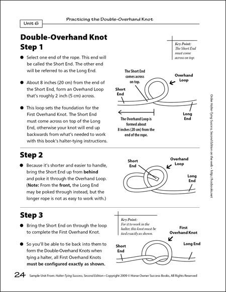 how to tie knots with rope instructions